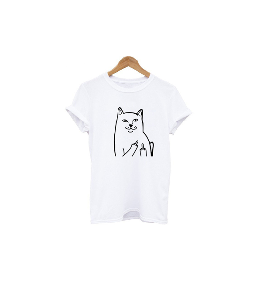 Middle Finger Cat Shirt