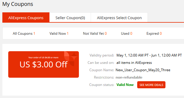 AliExpress - New User Coupon
